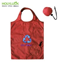 Rpet Round Shape Foldable Polyester Shopping Bag