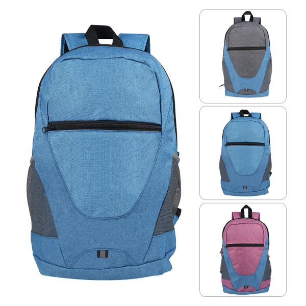 HOLY LUCK Lightweight Sport Backpack Packable Hiking Daypack Foldable Small Travel Camping Bicycle Canvas Bag for Women Men (blue))