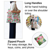 Free shipping Grocery Bags Reusable Foldable Shopping Bags 5pcs per Pack Groceries Totes with zip pouch Waterproof Machine Wash Ripstop Eco-Friendly