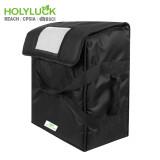 Wholesale Commercial Grade Black Food Delivery Bag Thermal Pizza Bag For Uber Eats