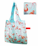 Free shipping Reusable Foldable Shopping Grocery tote Bag Dog with Rubber band Closure, Lightweight Polyester Foldable Tote- Heavy Duty Washable Shopping Bags,Individual Zippered Pouch