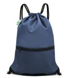 HOLYLUCK Men & Women Sport Gym Sack Drawstring Backpack Bag Navy