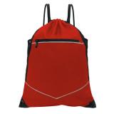 HOLYLUCK Men & Women Sport Gym Sack Drawstring Backpack Bag white