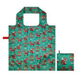 Reusable Foldable Shopping Bags  Large Cute Groceries Totes with zip pouch Waterproof Machine WashEco-Friendly