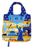 Recycled & Reusable Polyester Shopping Bag Full Printed Classical Design Grocery Bag