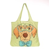 Large Capacity Environmentally Friendly Grocery Reusable Shopper Bag With Zipper Pouch