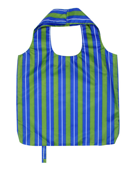 Roll Up Ripstop Blue Reusable Grocery Bag Eco Friendly Shopping Carry Bag