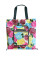 HOLYLUCK Flower Full Printing Ripstop Tote Bag Lightweight Grocery Bag With Zipper Pouch