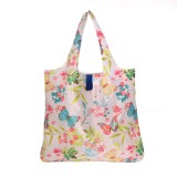 HOLYLUCK Flower Design Recycled Shopping Bag Lightweight Grocery Bag With Pouch