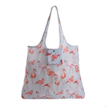 Lightweight Eco Collapsible Shopping Bag Washable Tote Bag For Storage Grocey With Zipper Pouch