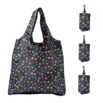 HOLYLUCK reusable Grocery Bags,Heavy Duty Foldable Shopping Tote Bag, Holds Up To 42 lbs,DHL free shipping to USA-Dog Paw Prints