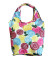 HOLYLUCK Flower Full Printing Ripstop Tote Bag Zipper Pouch Foldable Shopping Bag