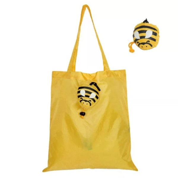 Business Standard Eco Friendly Shopping Bag Foldable Animal Pocket Grocery Tote Bag With Custom Logo