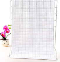 37x76 - White 100% Cotton Grid Hand Towel