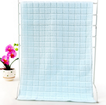 37x76 - Blue 100% Cotton Grid Hand Towels