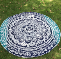 150x150 -  Blue Lotus Pattern Round Chiffon Printed Beach Towel