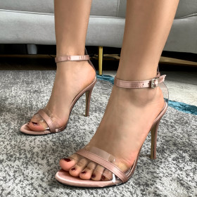 Stiletto open toe buckle sandals