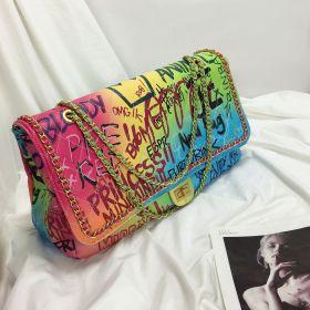 Colorful graffiti large Lingge bag