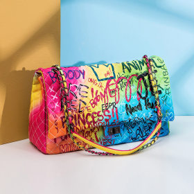 Colorful graffiti Lingge bag