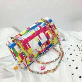 Lock bag and color graffiti bag
