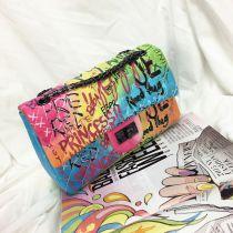 Graffiti women's bag chain bag