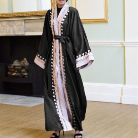 Dubai Middle East high end embroidery cardigan women's Robe