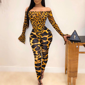 Sexy printed Jumpsuit Set