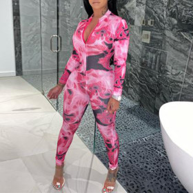 Camouflage printed summer Jumpsuit