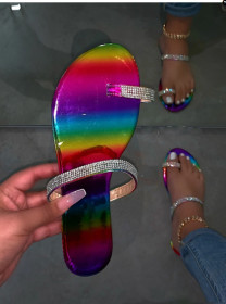 Diamond flat sandals and slippers
