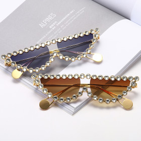 Cat's Eye Sunglasses with diamond Sunglasses