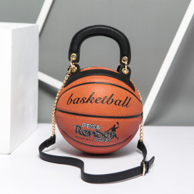 Fashion Round Basketball Shape Bags Luxury Women's Bag Creative Basketball Styling Shoulder Messenger Bag Handbags Personality