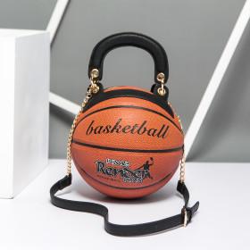 Fashion Round Basketball Shape Bags Luxury Women's Bag Creative Basketball Styling Shoulder Messenger Bag Handbags Personality