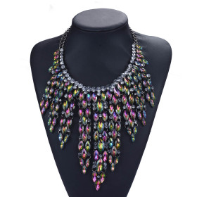 Fashion Diamond Long multi-layer Necklace personalized Tassel Necklace