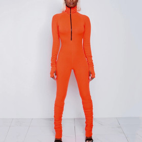 Sexy and tight solid color Jumpsuit