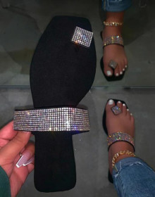Rhinestone sandals and slippers