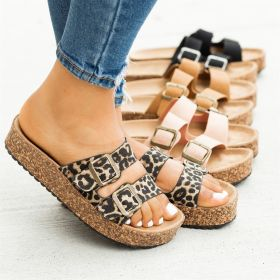 Beach sandals round head denim set foot flat bottom Sandal