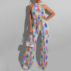 Printed summer women's Jumpsuit