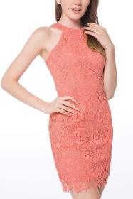 Sexy nightclub summer lace dress