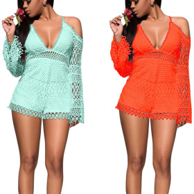 Sexy and fashionable Night Club Summer lace Jumpsuit