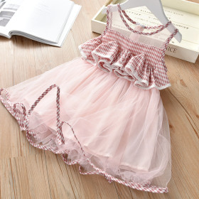 Mesh solid dress sleeveless mesh dress