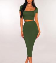 Sexy short sleeve beach skirt