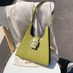Vintage crocodile lacquered leather handbag soft Shoulder Tote