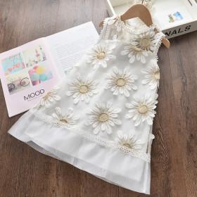 Fashionable three-dimensional love flower dress