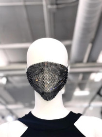 Flash diamond jewelry mask