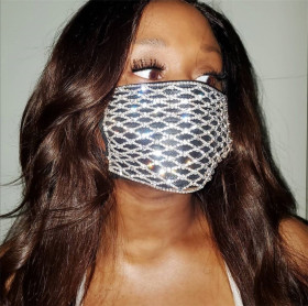 Metal diamond cut out mask