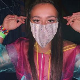 Mesh flash diamond jewelry mask
