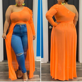 Split single sleeve dress