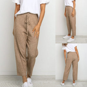 Knitted straight bandage hot casual pants