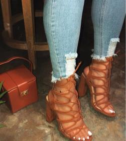 Hollow sexy high heels