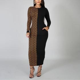 Printed fashion fit dress